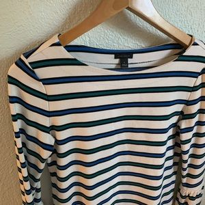 Ann Taylor striped bell sleeve blouse